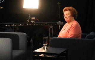 Aufnahme in einem Frankfurter Studio für die ARD-Sendung »Kinder des Kriegs«
