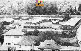 WdE-Station B Banner Zwangsarbeiterlager auf der Lahninsel von Leitz