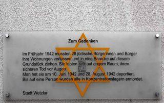 Gedenktafel am Haus Jahnstraße 3 in Niedergrimes