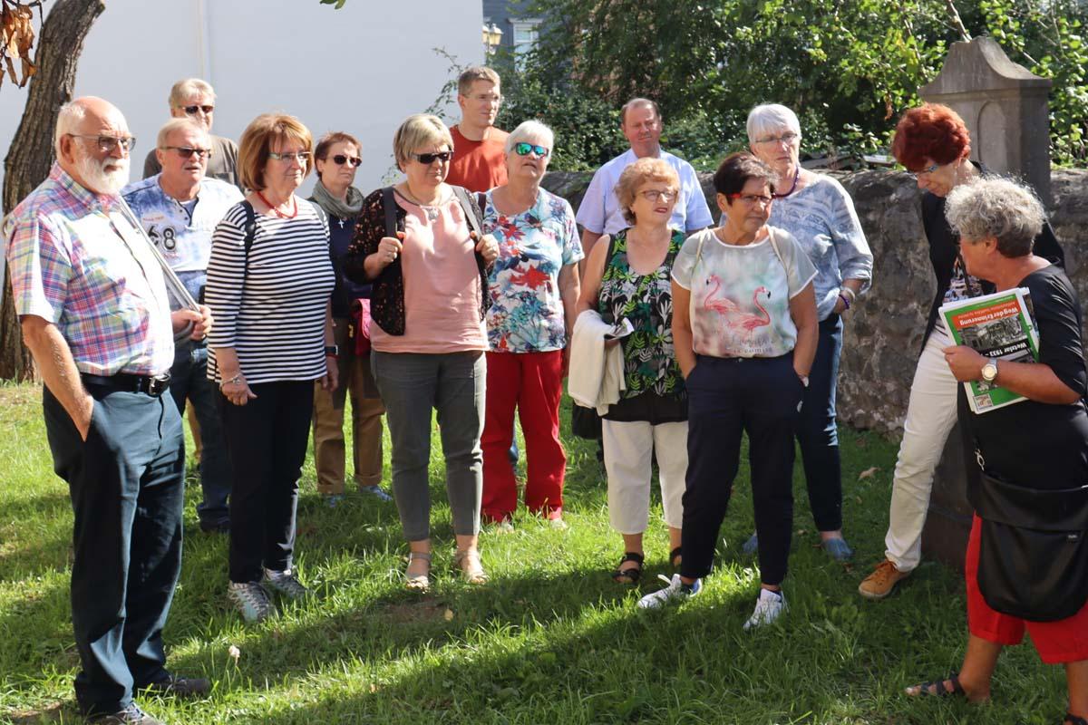 Gruppenführung zum Weg der Erinnerung für SPD-Ortsverein Herborn am 15.09.2019