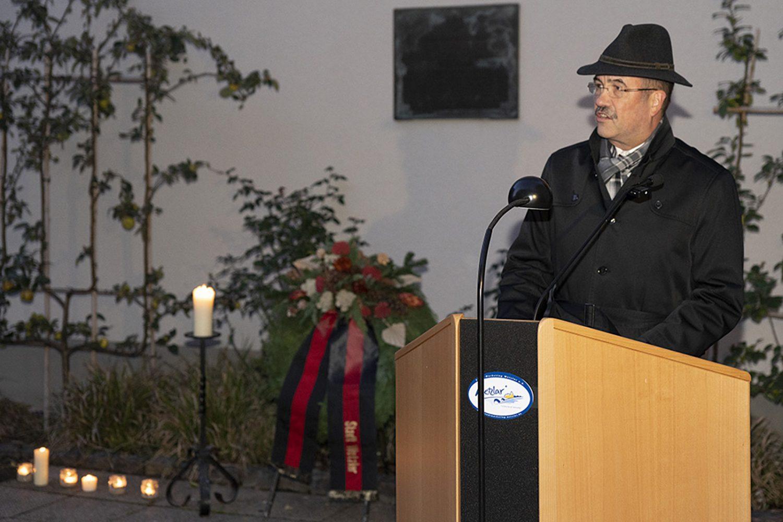 Pogromgedenken an der ehemaligen Synagoge in Wetzlar