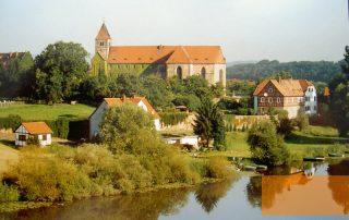 Panoramabild von der Gedenkstätte Breitenau