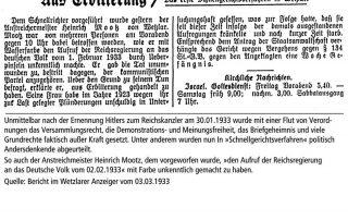 Urteilsverkündung in den Wetzlarer Nachrichten