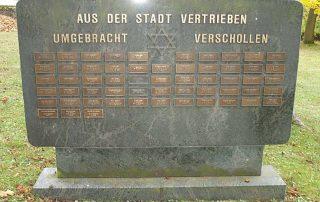 Gedenkstein auf dem Neuen Jüdischen Friedhof