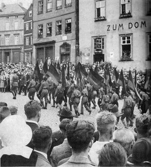 Antifschistische Demonstration der Eisernen Front 1932