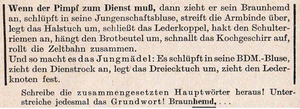 Alltag im 3. Reich Lernmaterial für Schulen: Der Deutsche Pimpf