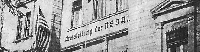 Banner NSDAP-Kreisleitung in der Buderus-Villa