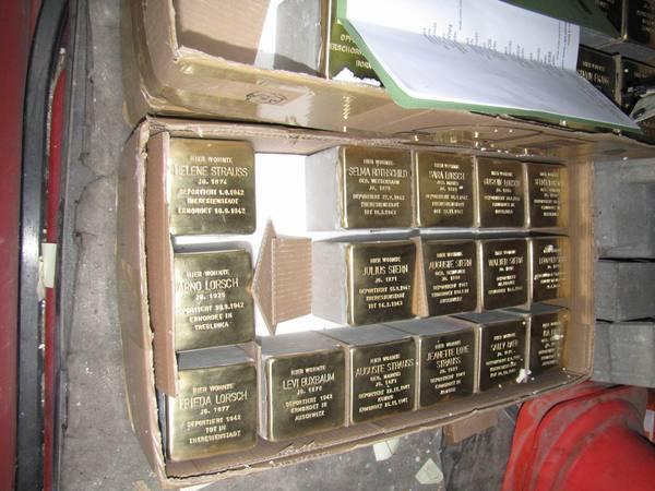Stolpersteinverlegung am 22.10.2009