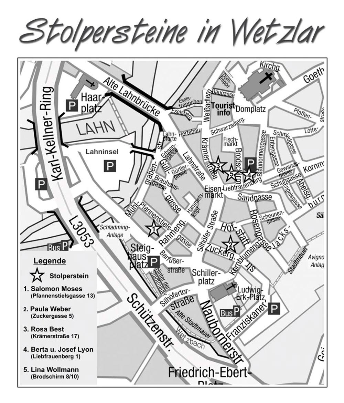 Verlegungsplan Stolpersteine 2009