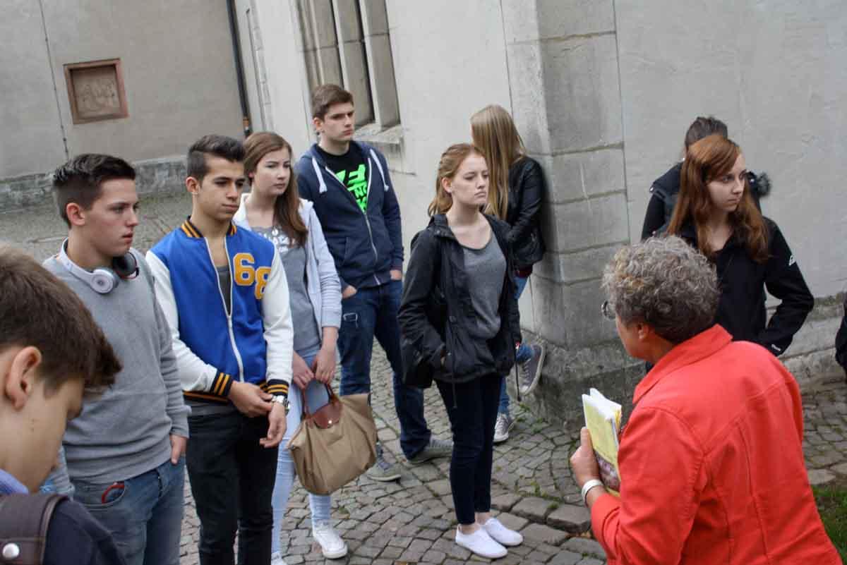 WdE-Gruppenführung Gesamtschule Pohlheim am 24.09.2013