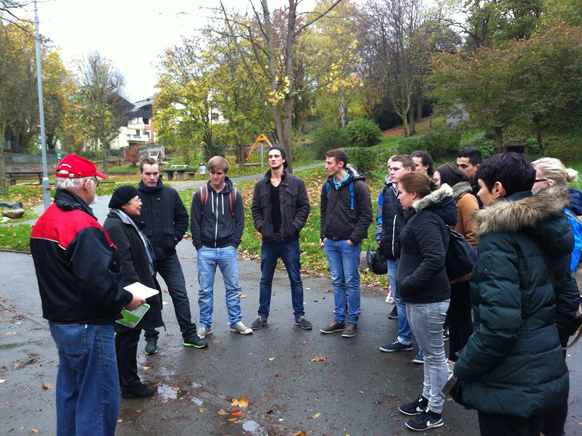 WdE-Gruppenführung für die Theodor-Heuss-Schule am 04.11.2014