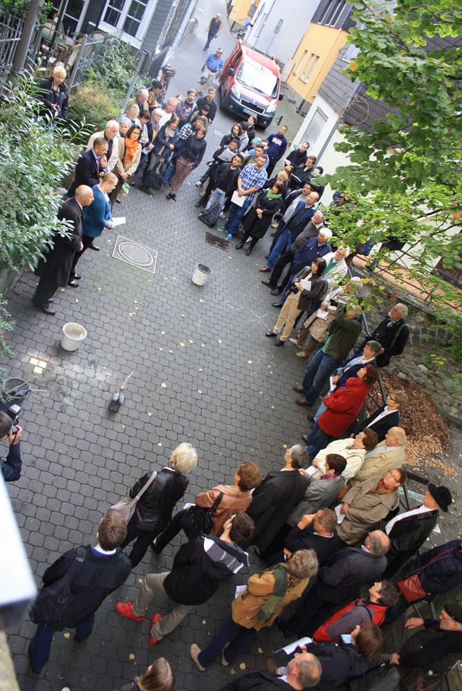 Stolpersteinverlegung am 08.09.2015