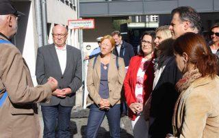 WdE-Gruppenführung für Andrea Nahles und SPD UB LDK am 17.09.2018