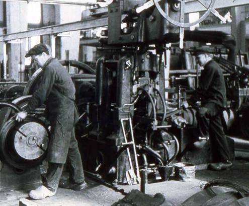 Arbeiter bei Buderus 1940er Jahre