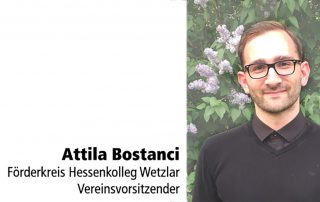 Förderkreis Hessenkolleg Attila Bostanci Tafelspender