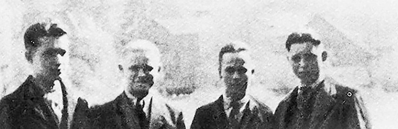 Banner Tomasz Kiryllow mit seinen Freunden kurz vor der Verschleppung 1942