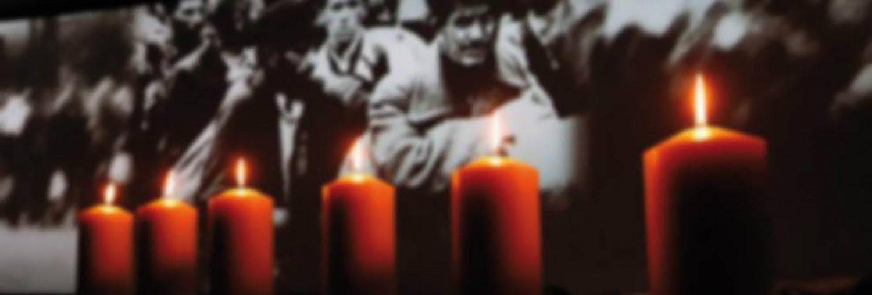 Banner Gedenken Kerzen