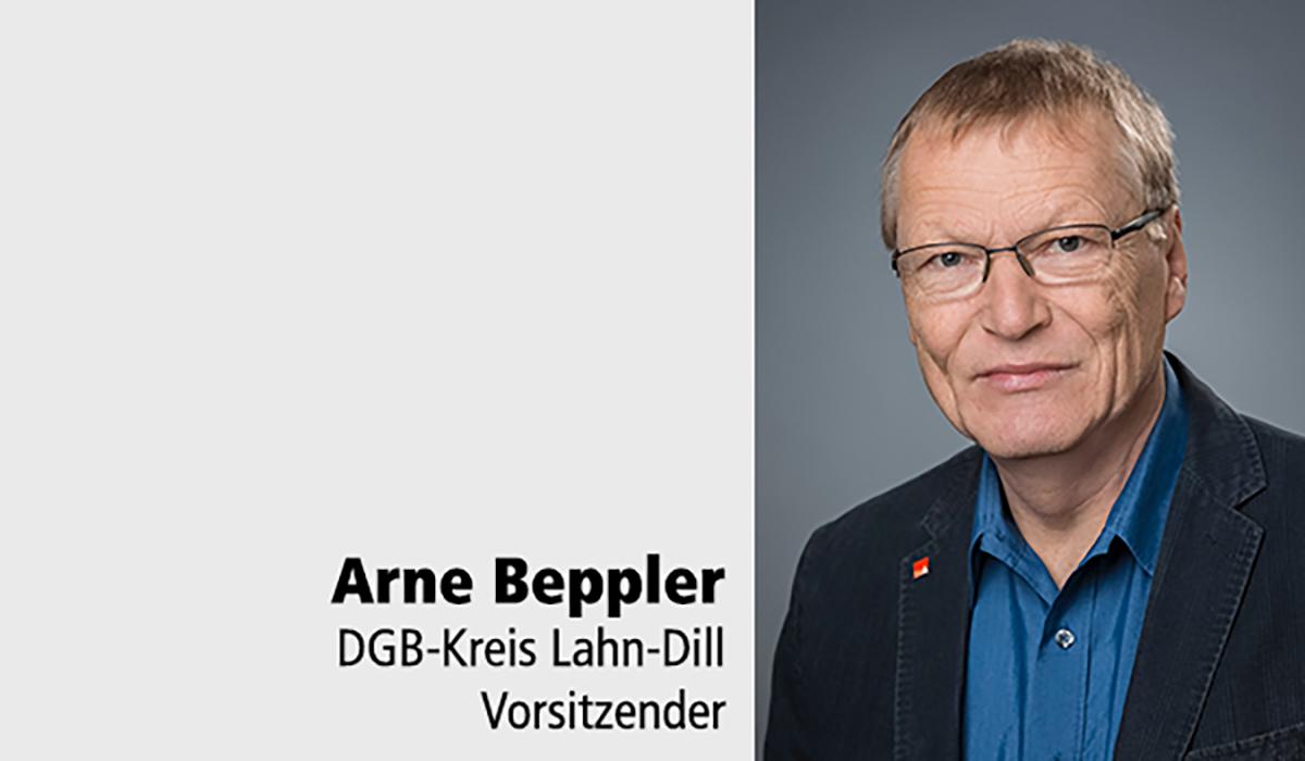 Arne Beppler Tafelspender DGB-Kreis LDK DMV-Haus