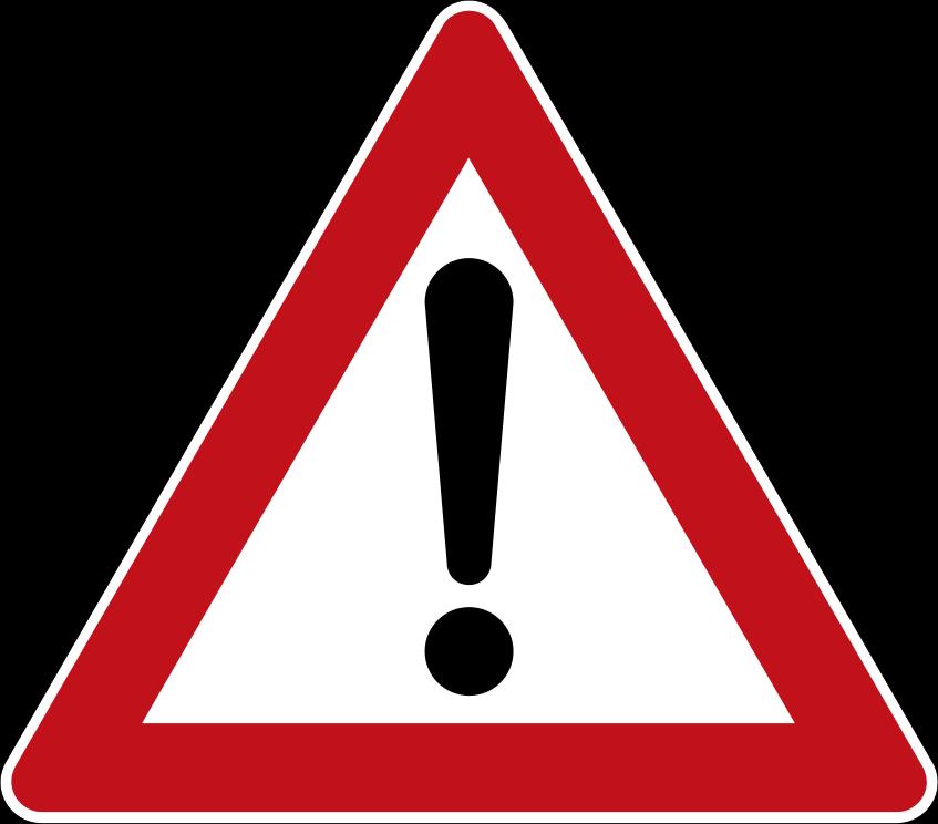Achtung Verkehrszeichen