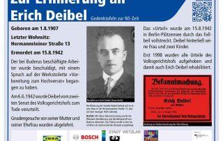 Teaser Gedenktafel Erich Deibel