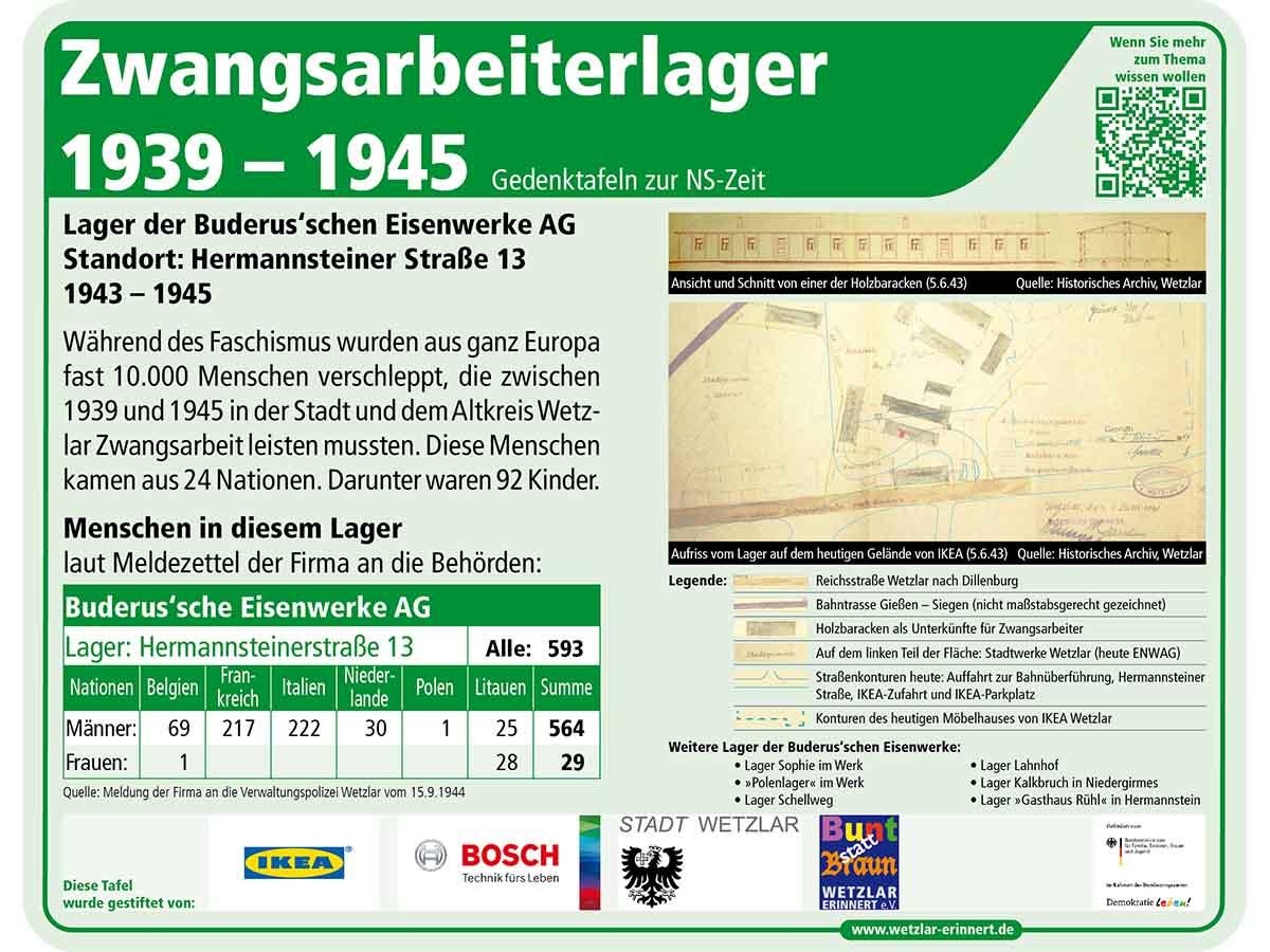 Teaser Gedenktafel 3 Lager Hermannsteiner Str.