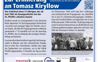 Teaser Gedenktafel Tomasz Kiryllow