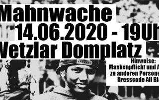 Mahnwache Black Lives Matter 14.06.2020 Domplatz Wetzlar