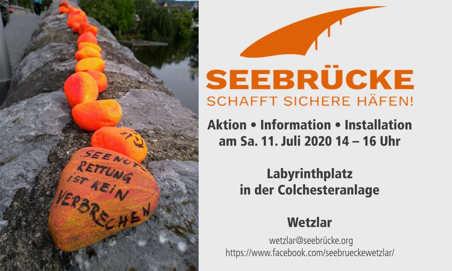 Aktion Seebrücke Aktion 11.07.2020