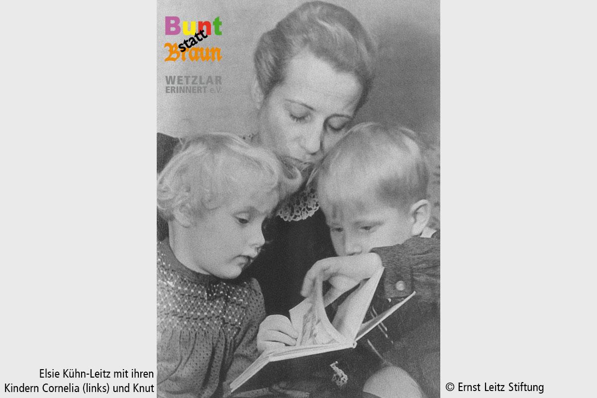 14 WdE-Station Gestapo Elsie Kühn-Leitz mit Kindern Cornelia und Knut