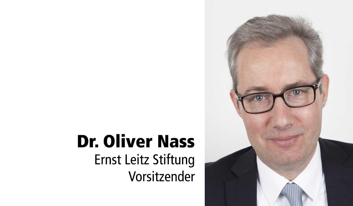 Tafelstifter Dr. Oliver Nass. Vorsitzender Ernst-Leitz-Stiftung