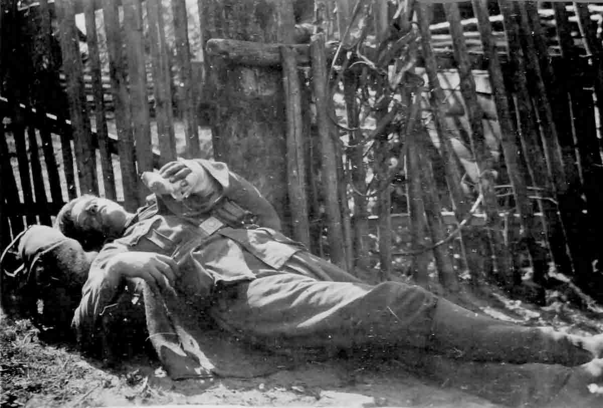 Donsbach Juli 1941 verwundeter Wehrmachtssoldat