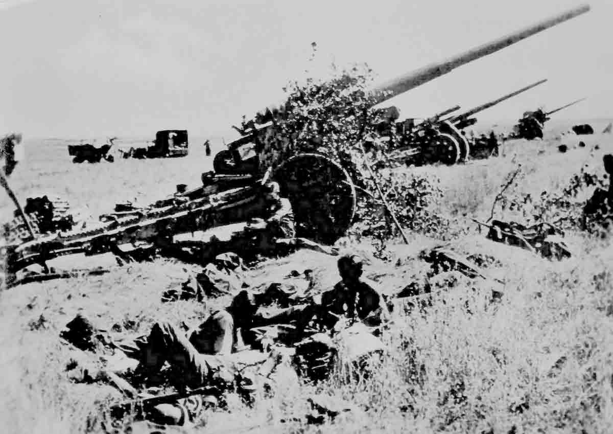 Donsbach Oktober 1941 Kannonenbatterie 10,5 cm