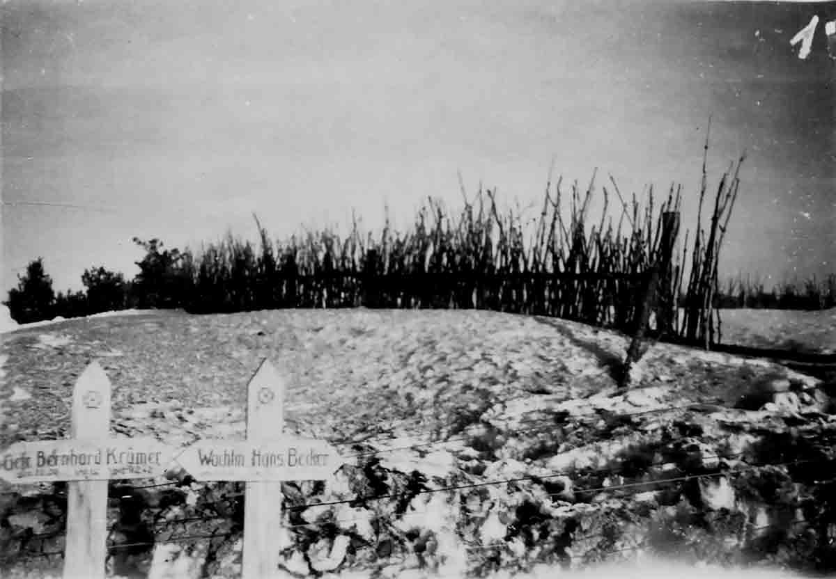 Donsbach Februar 1942 Gräber deutscher Soldaten
