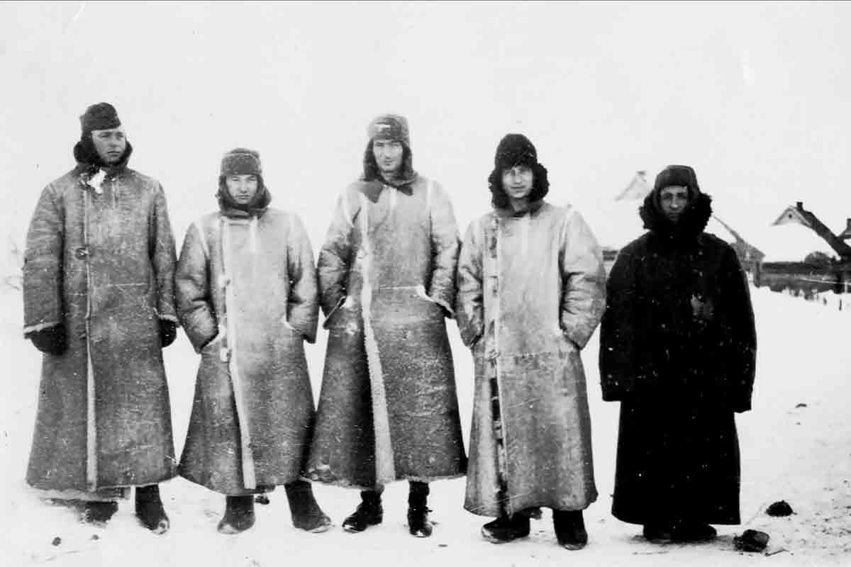 Donsbach Februar 1942 Nur Offiziere bekamen Winterbekleidung