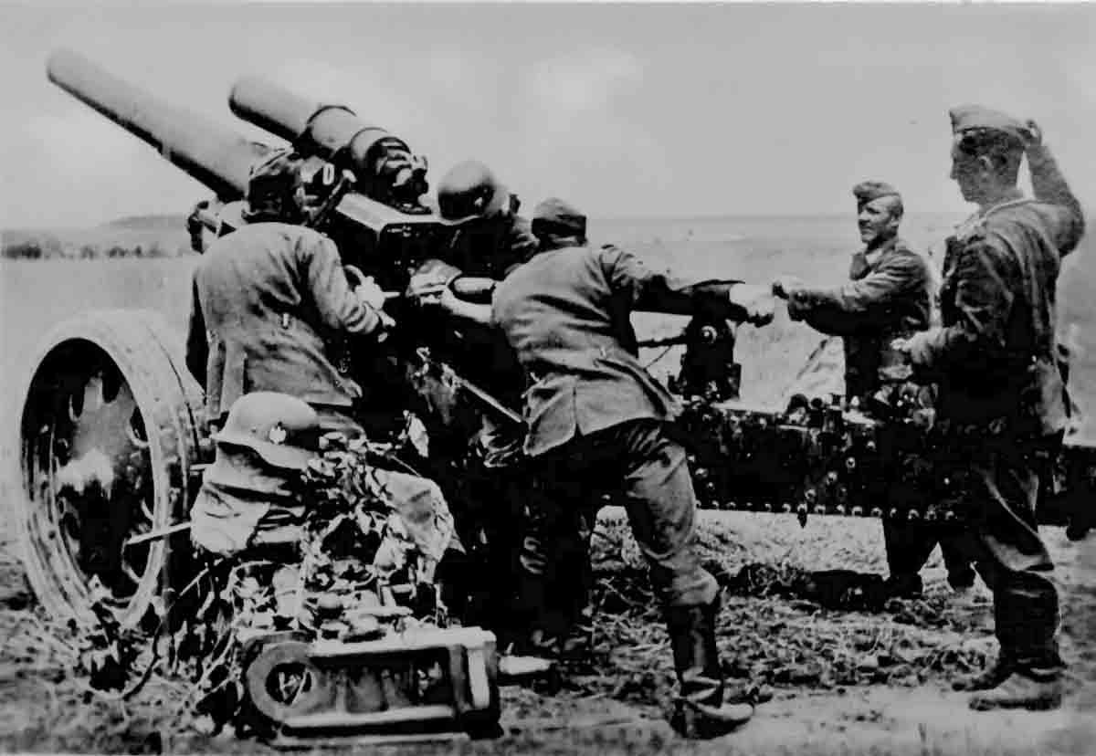 Donsbach Februar 1942 Kanone Geschütz 10.5 cm