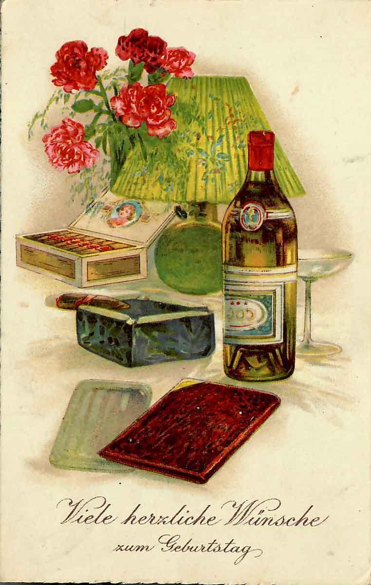 Adolf Hammer Feldpostbriefe Geburtstagskarte an den Vater 1944