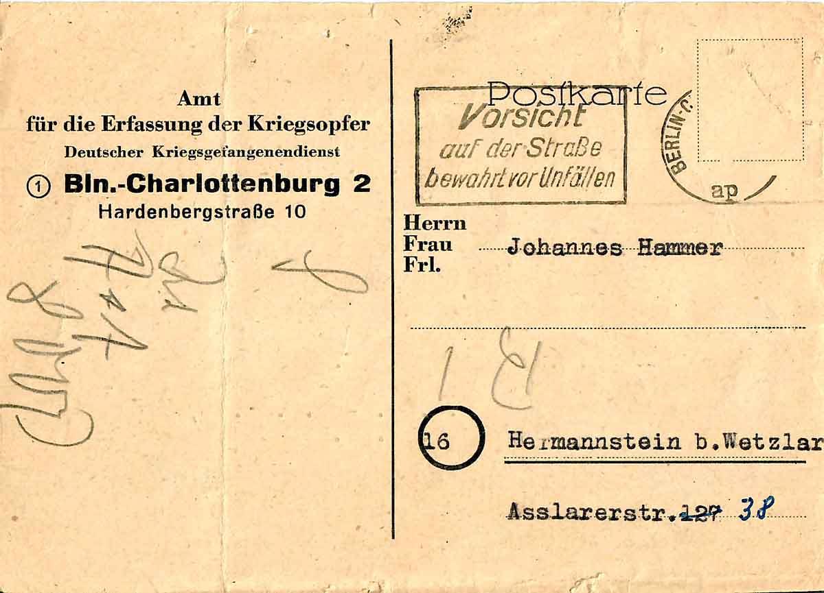 Adolf Hammer Feldpostbriefe