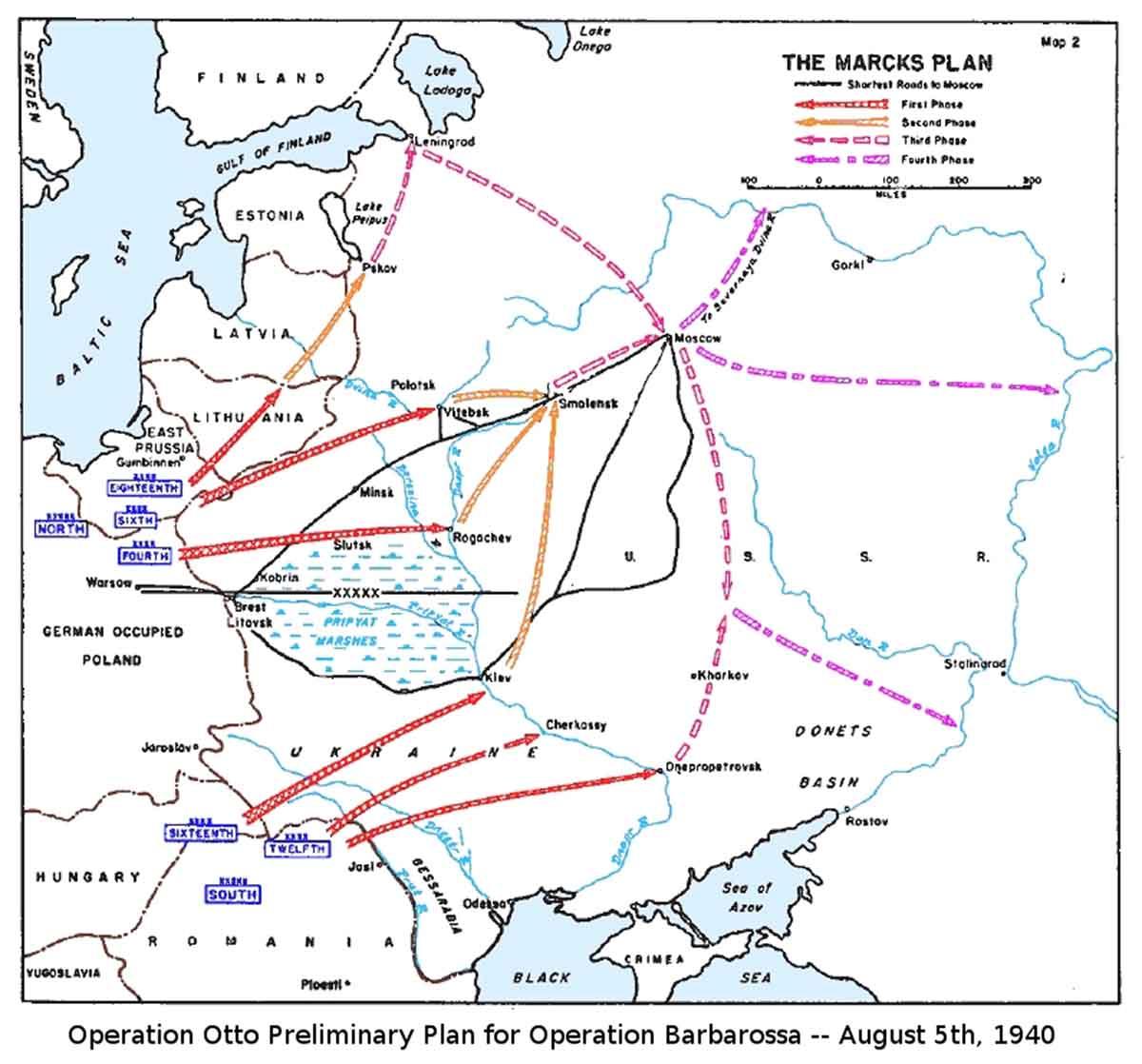 Operation Bararossa Plan von General Marks 19940