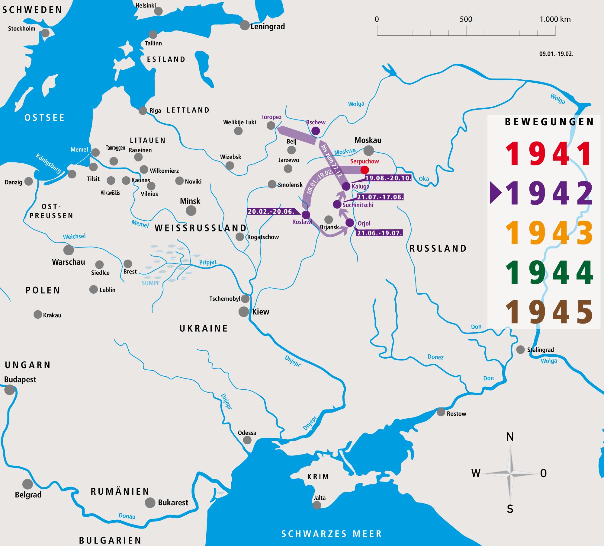 Unternehmen Barbarossa Fritz Donsbach Bewegungsprofil 1942