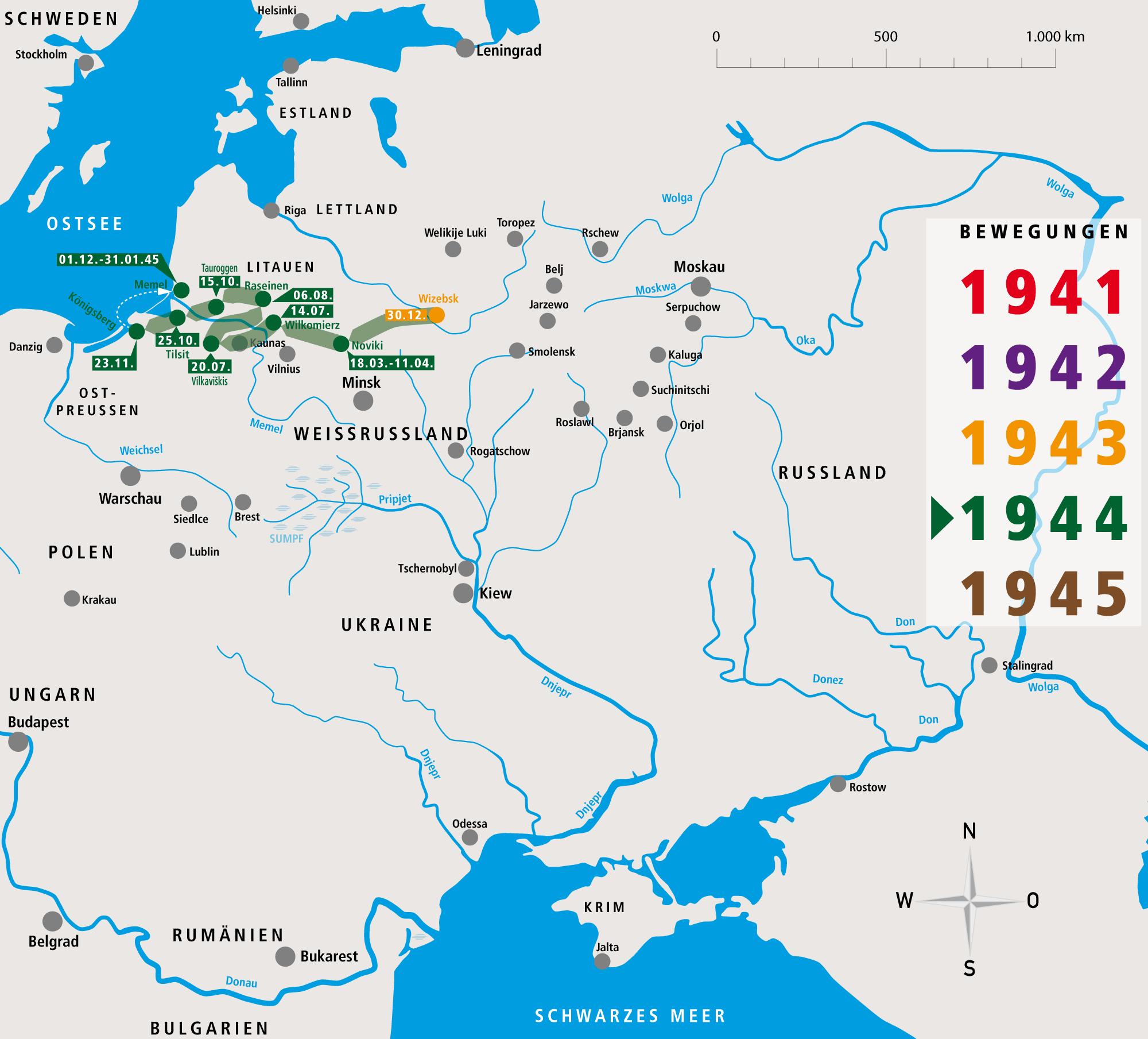 Unternehmen Barbarossa Fritz Donsbach Bewegungsprofil 1944