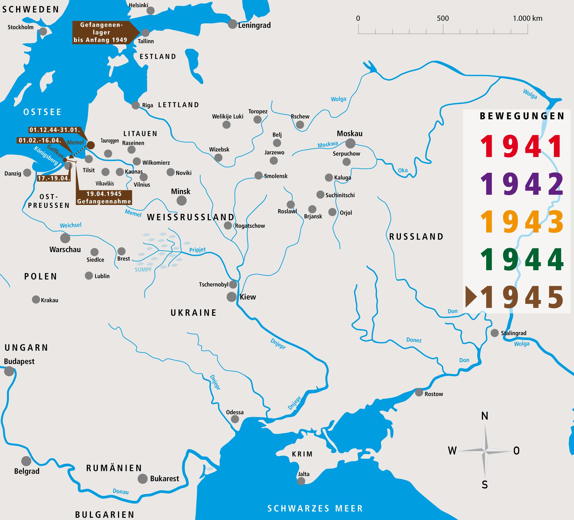Unternehmen Barbarossa Fritz Donsbach Bewegungsprofil 1945-1949