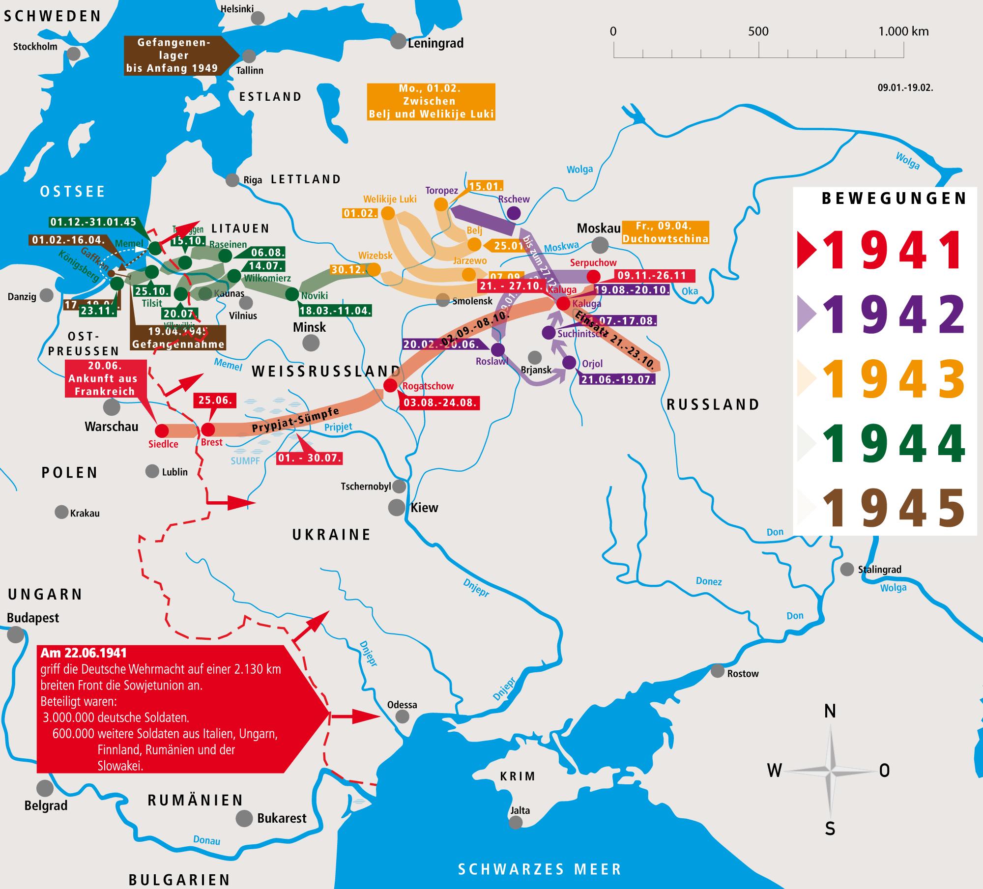 Unternehmen Barbarossa Fritz Donsbach Bewegungsprofil 1941-1949