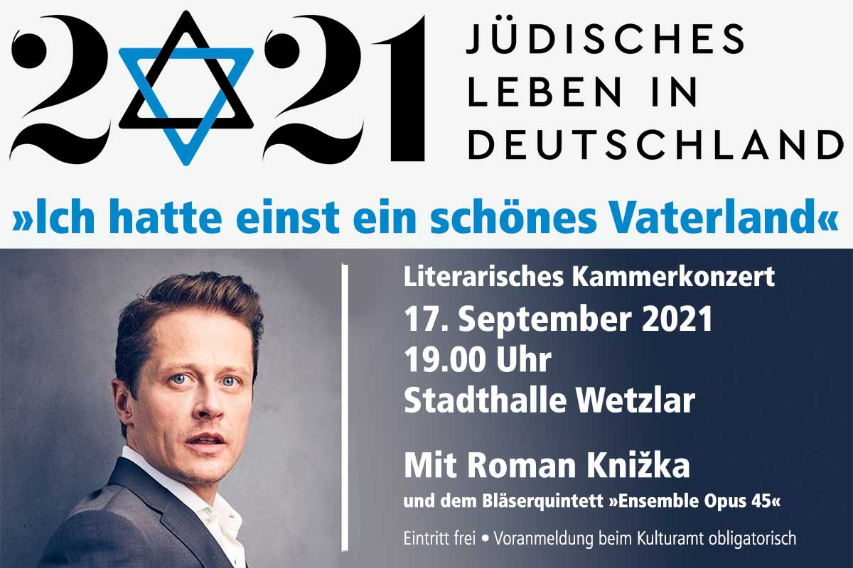 """Literarisches Kammerkonzert """"1700 Jahre jüdisches Leben in Deutschland"""""""