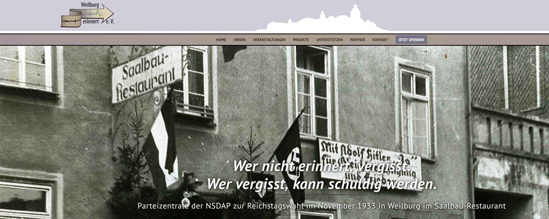 Weilburg erinnert e.V. Banner