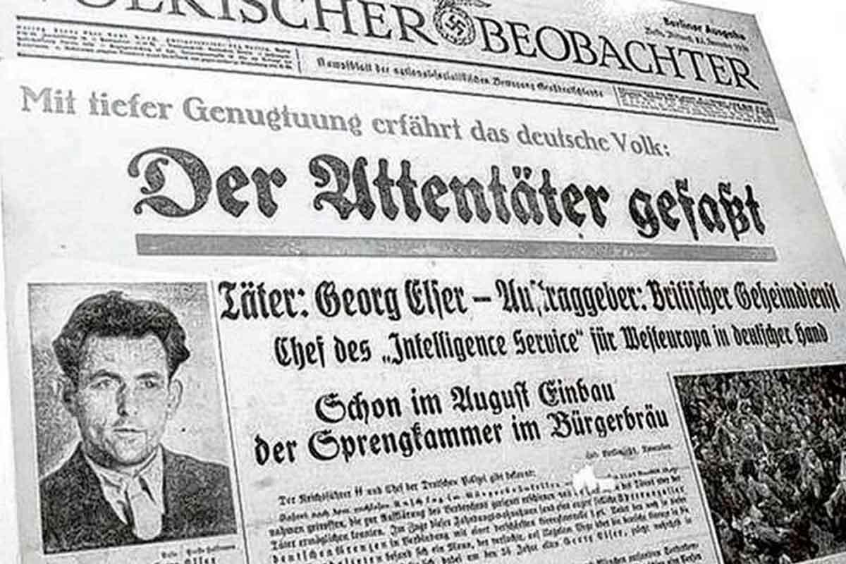 Georg Elser Attentat im Völkischen Beobachter